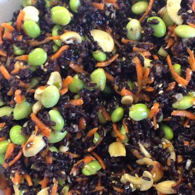 Black Rice and Edamame Salad