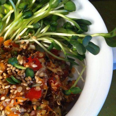 Quinoa Salad with Tamari-Sesame Dressing