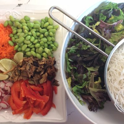 My Global Kitchen: Crispy and Cool Rice Vermicelli Salad!