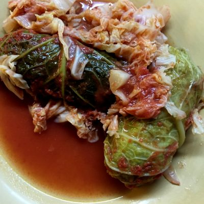 Rolling in the Deep Dead of Winter with Cabbage Rolls