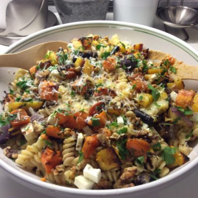 Reconnecting with Some Old Roots:  Roasted Vegetable, Walnut and Cheese Rotini
