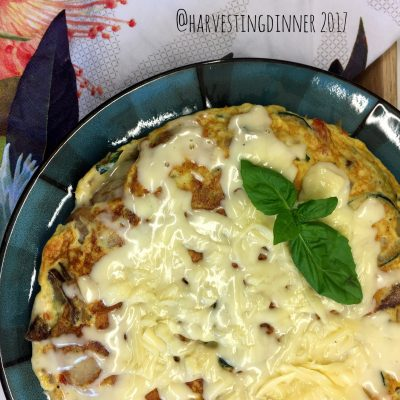 Omelets for Dinner? Potato and Zucchini Rustic Omelet